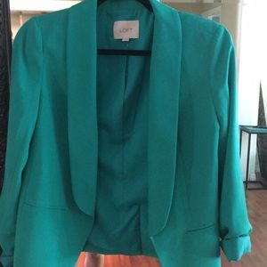 ✨Moving Sale✨ Teal Loft Blazer XS